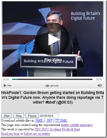 Twitter subtitles for the Digital Future Speech