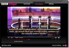What they were saying: Leaders debate on BBC iPlayer with twitter subtitles from parliamentary candidates