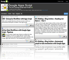 Suggest an article for The GAS: Google Apps Script Scoop