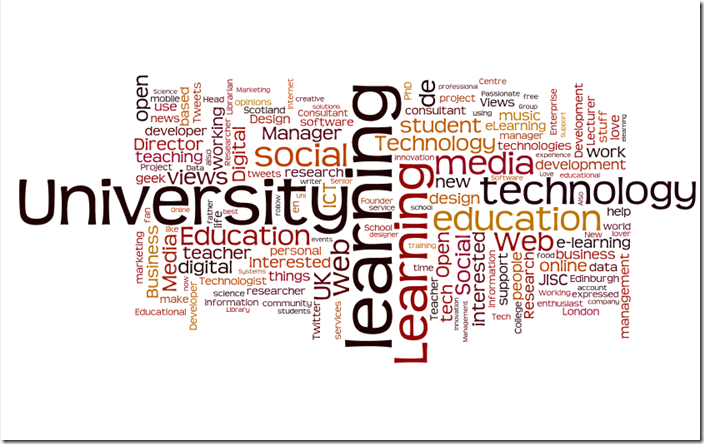 CETIS Follower Description Wordle