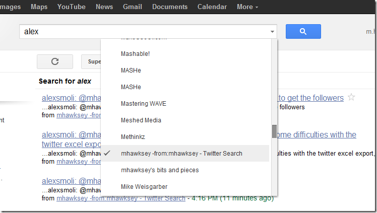 Using Google Reader to create a searchable archive of Twitter mentions
