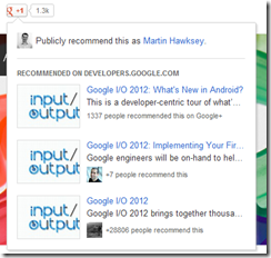 Google+ Recommendation