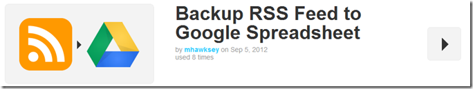 Backup RSS Feed to Google Spreadsheet