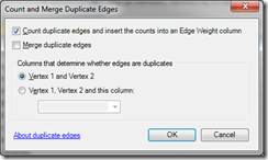 Count and merge duplicate edges