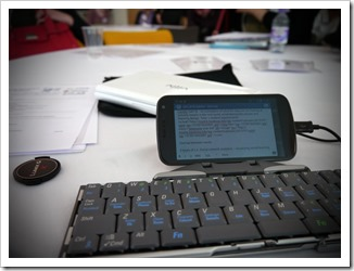 Wordpress App, Android phone and bluetooth keyboard