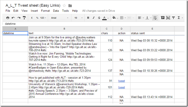 TwtrService Example: EasyTweetSheet (lets you send tweets from Google Sheet)