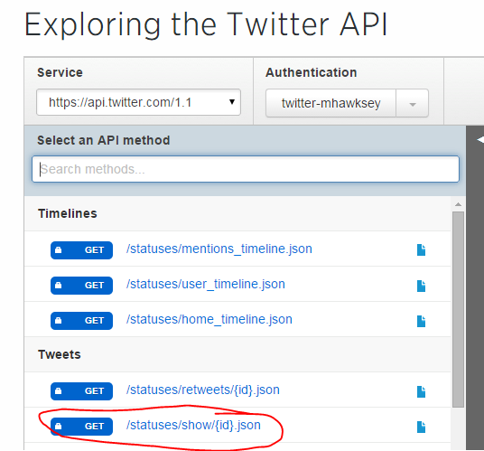 How to explore the Twitter API without code using the console – MASHe