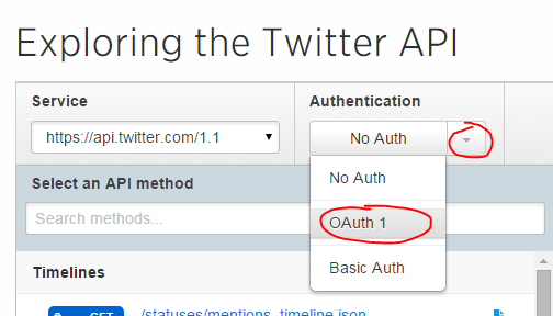 How to explore the Twitter API without code using the console