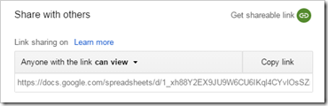 Generate a PDF (csv/xlsx/ods) download/publish to the web link for new Google Sheets