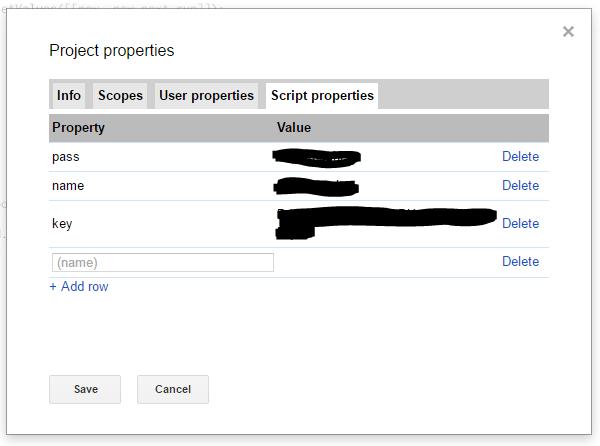 Adding Script Properties