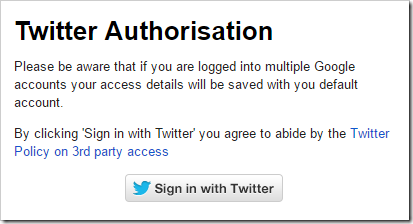 Twitter Authorization 2nd Step