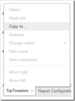 select 'Copy to…' and select your new TAGS Sheet