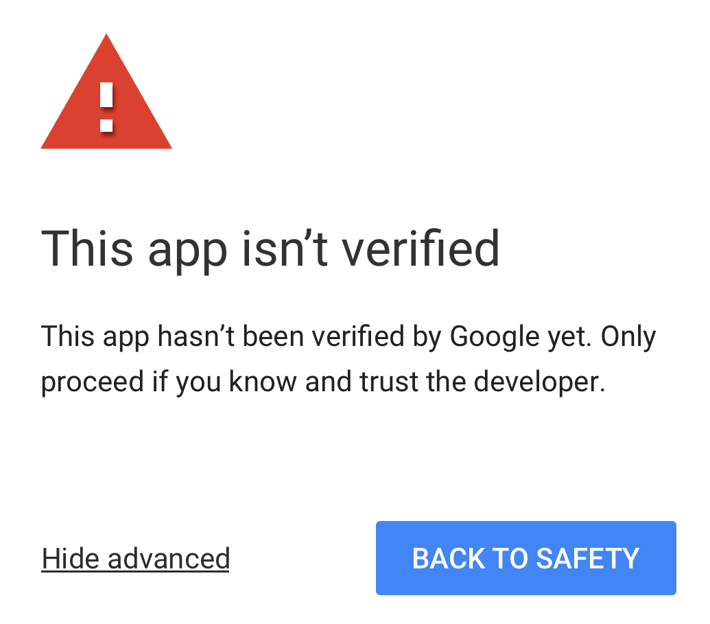 My google apps script app isnt verified understanding why and this announcement came in response to continued work to prevent phishing attacks that have used google apps script baditri Image collections