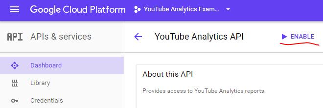 Enabling APIs