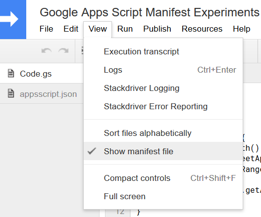 Everything you always wanted to know about Google Apps Script Manifest Files (but were afraid to ask...)