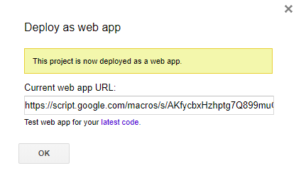 current web app URL