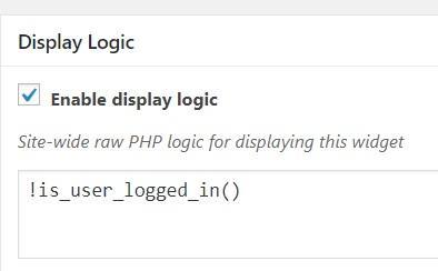 Widget Wrangler display logic